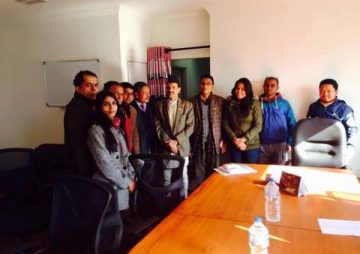 HURPES delegation meeting with Hon. Industry Minister Nabindra Raj Joshi