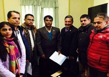 HURPES delegation meeting with Hon Youth and Sports Minister Daljit Shripali